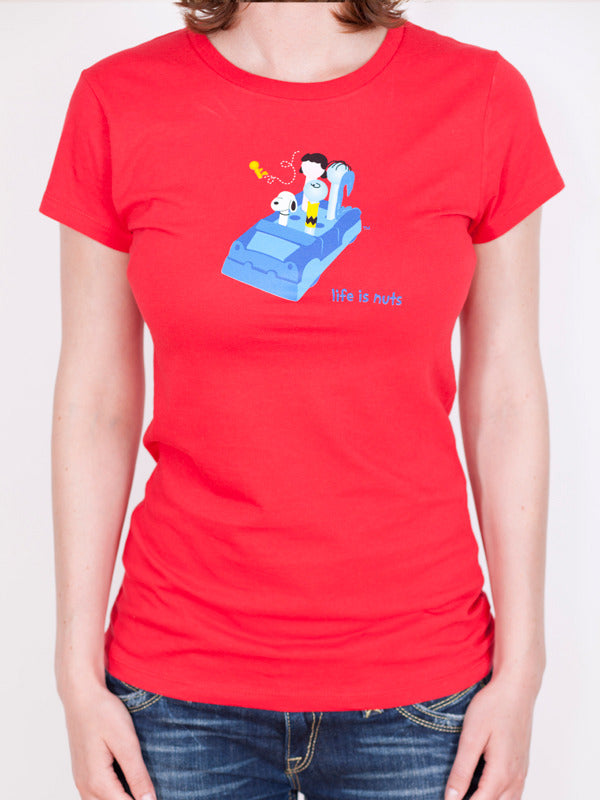Women's Peanuts Gang T-shirt - Life is Nuts