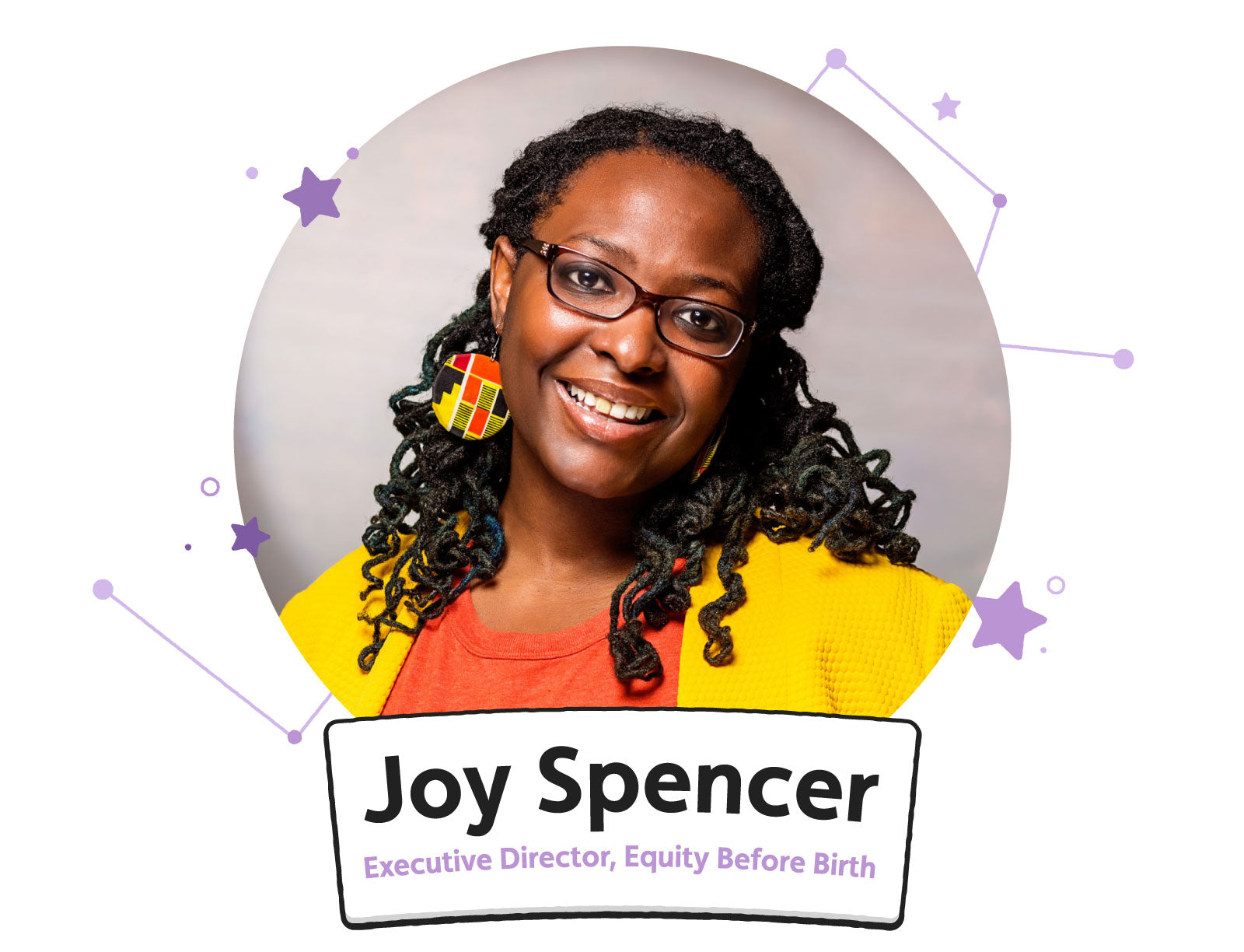 Portrait of Joy Spencer, Executive Director of Equity Before Birth