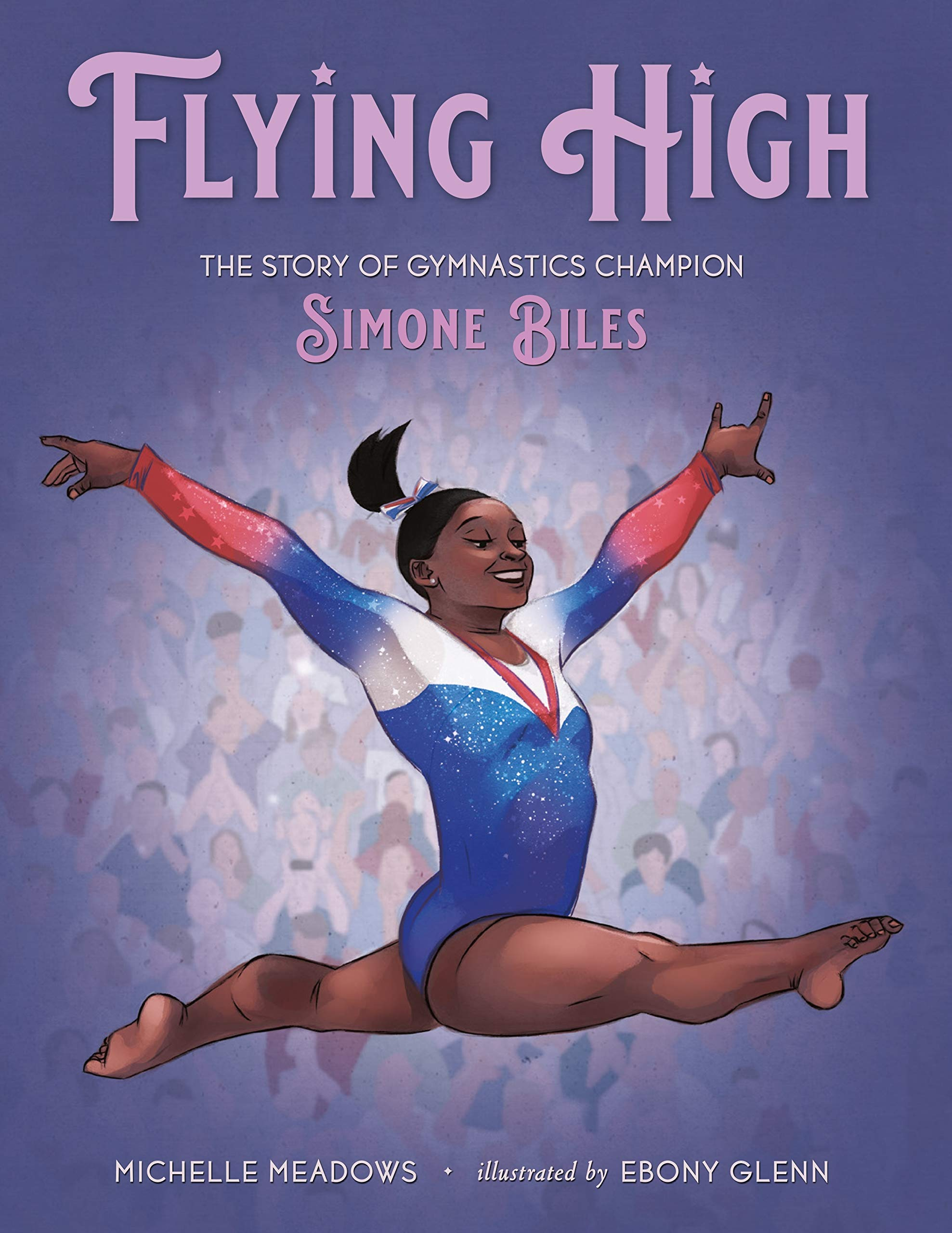 Book cover for Flying High, the story of gymnastics champion Simone Biles