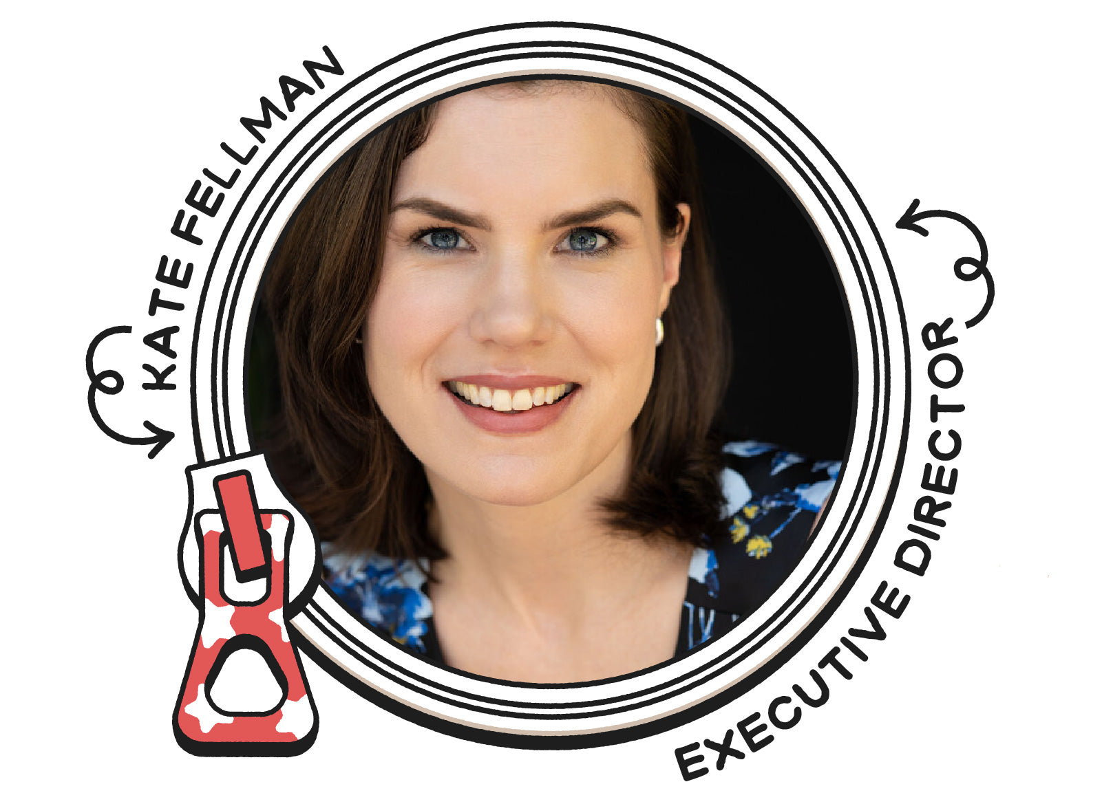Headshot in a circular frame of Kate Fellman, Executive Director of You Can Vote