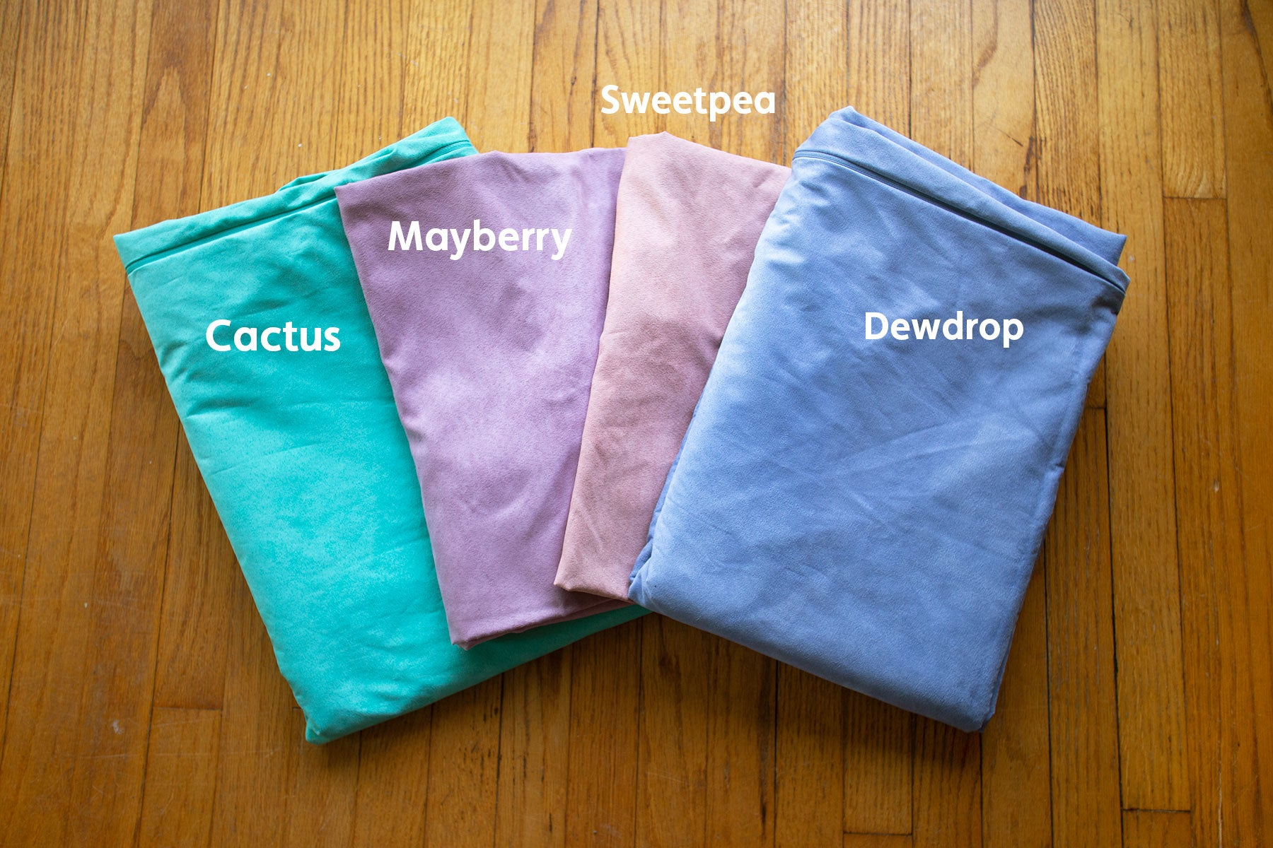 Cactus Nugget covers with Mayberry, Sweetpea, Dewdrop.