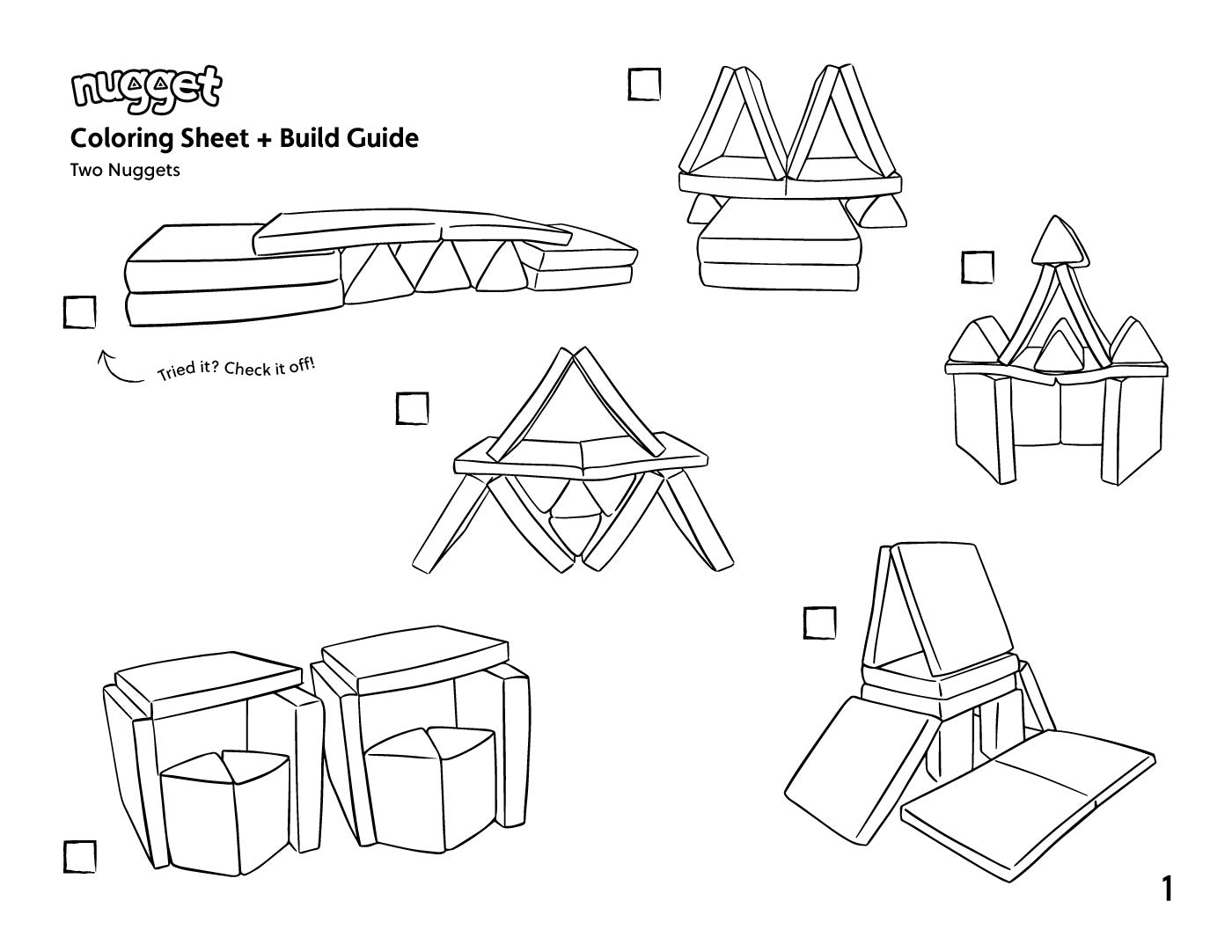 Coloring Sheets + Build Guides! - Nugget