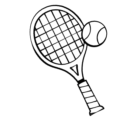 Drawing of a tennis racket