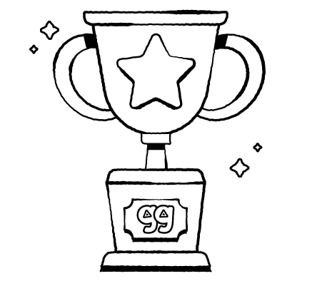 Drawing of a trophy
