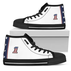 Evel Knievel Men's High Top Shoes [White/Black Sole]