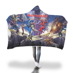 Iron Maiden Legacy of the Beast Hooded Blanket