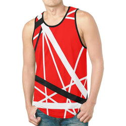 Red Black White Stripes Tank Top [Men/Women]