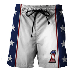Evel Knievel Swim Trunks/ Beach Shorts