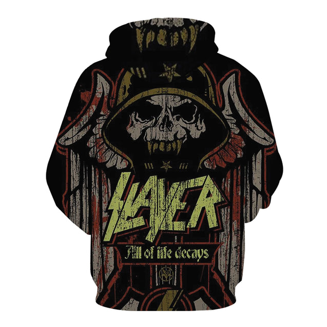 All Of Life Decays Slayer Band 3D full printed Hoodie 2