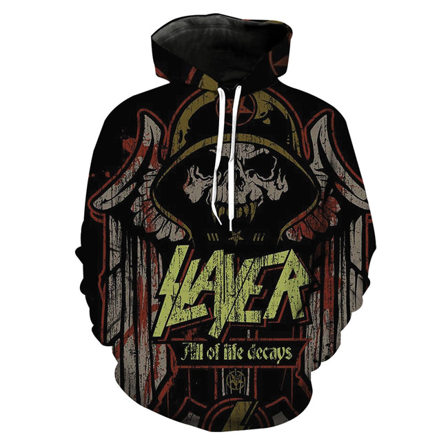 All Of Life Decays Slayer Band 3D full printed Hoodie