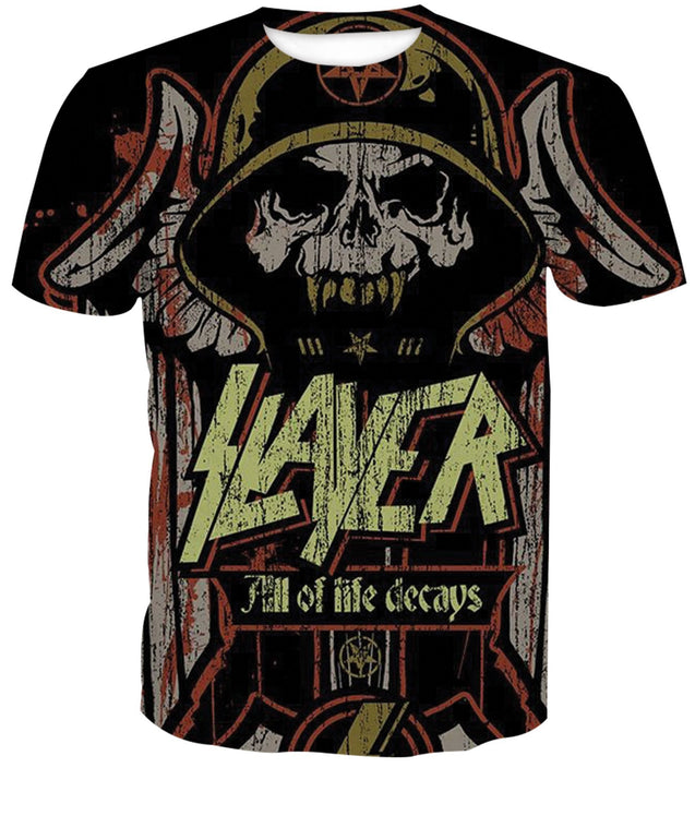 All Of Life Decays Slayer Band 3D full printed T-shirt