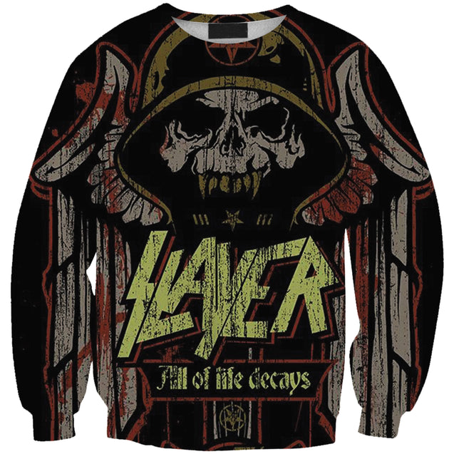 All Of Life Decays Slayer Band 3D full printed Long Sleeve