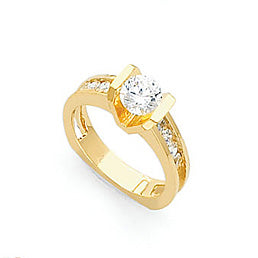 14 Karat Gold Semi-Mount Diamond Ring