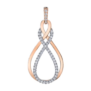 14 Karat Two Tone Diamond Pendant