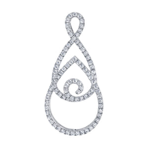 14 Karat Gold Diamond Pendant