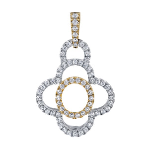 14 Karat Gold And Diamond Pendant