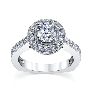 14 Karat Gold Diamond Bridal Engagement Ring