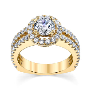 14 Karat Gold Diamond Engagement Ring