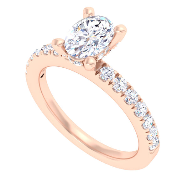 14 Karat Diamond Bridal Engagement Ring