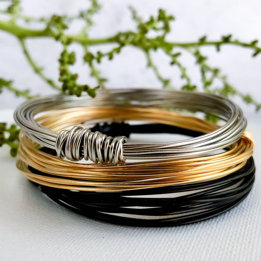 Bundle of 3 essential wire bracelets