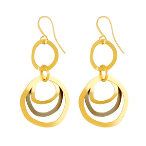 Elisa - Modern silver & gold hoop earrings