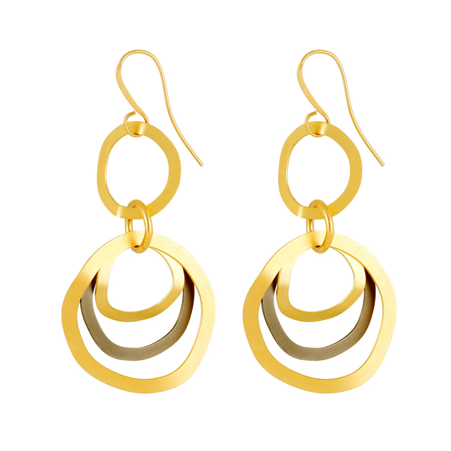 Elisa silver & gold hoop earrings