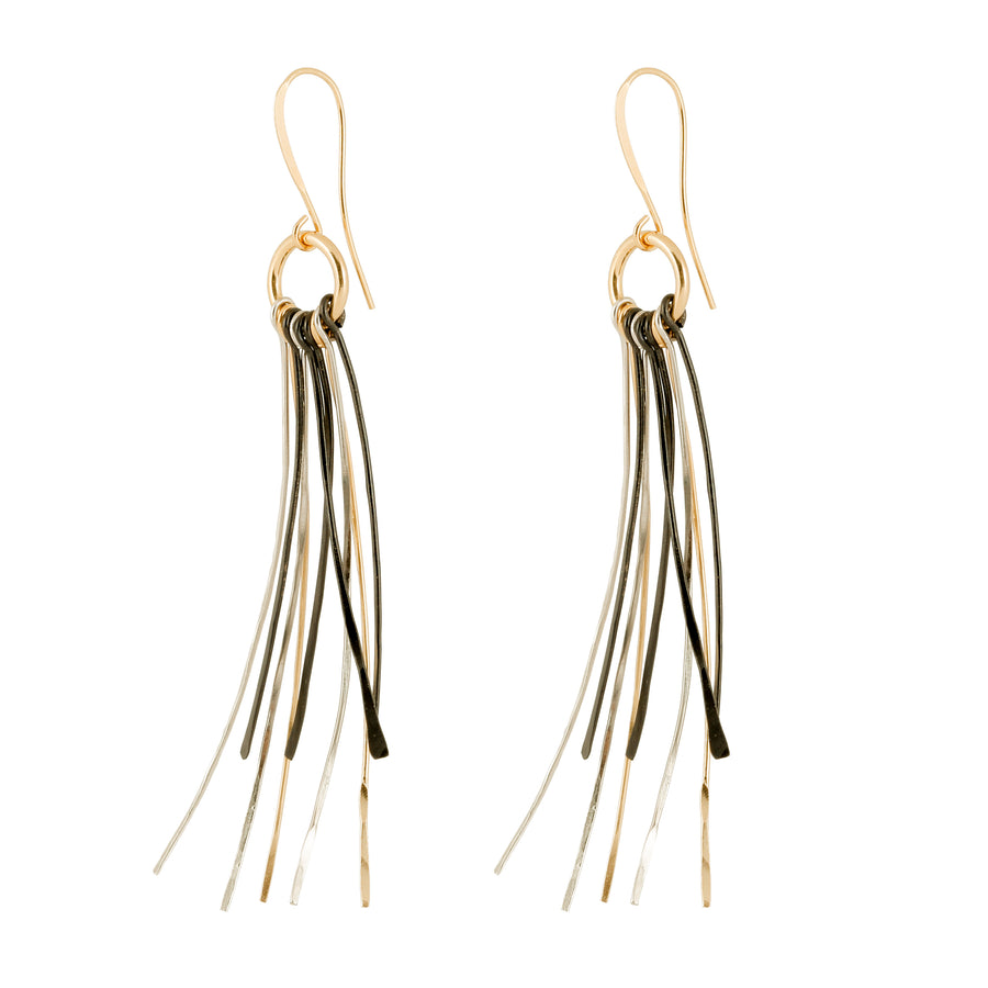 Paige - Multicolor wire twigs statement earrings