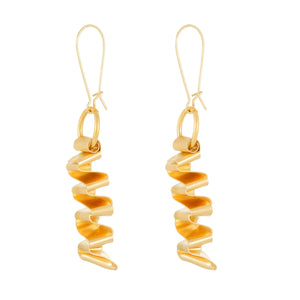 Callie - Geometric wave-shaped earrings