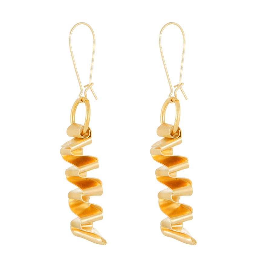 Callie Geometric wave-shaped earrings