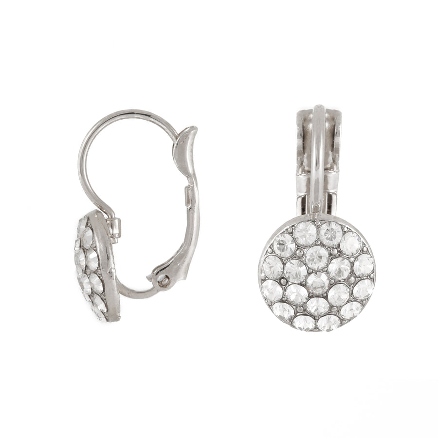 Rachel - Delicate white crystal-set pave earrings