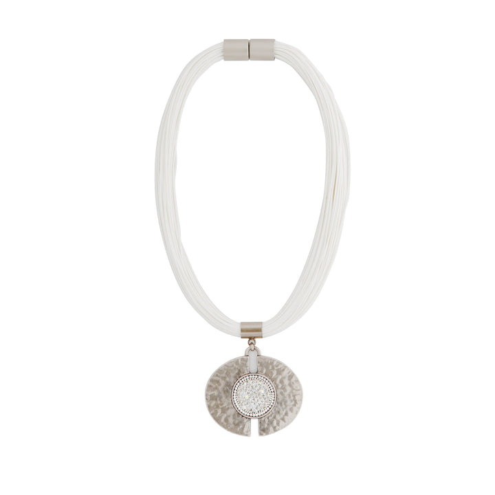 Elizabeth - White statement necklace