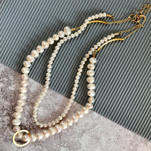 Brooke two strand pearl necklace