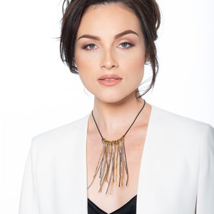 Florence wire twigs necklace & earrings