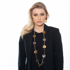 Sharon - Long gold & silver elements necklace