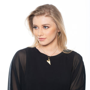 Eliana - Dainty 24K Gold Heart Necklace