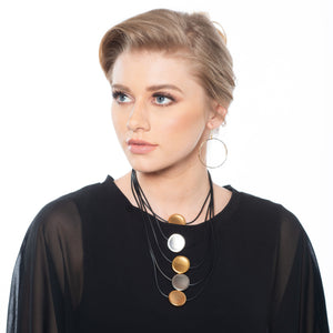 Donna Bold multilayer discs necklace
