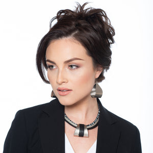 Linda - Black & multi-cord collar necklace