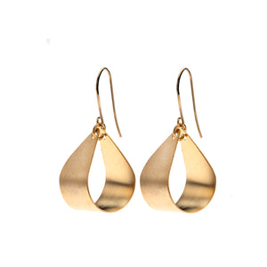 Luna - 24K gold teardrop shaped earrings