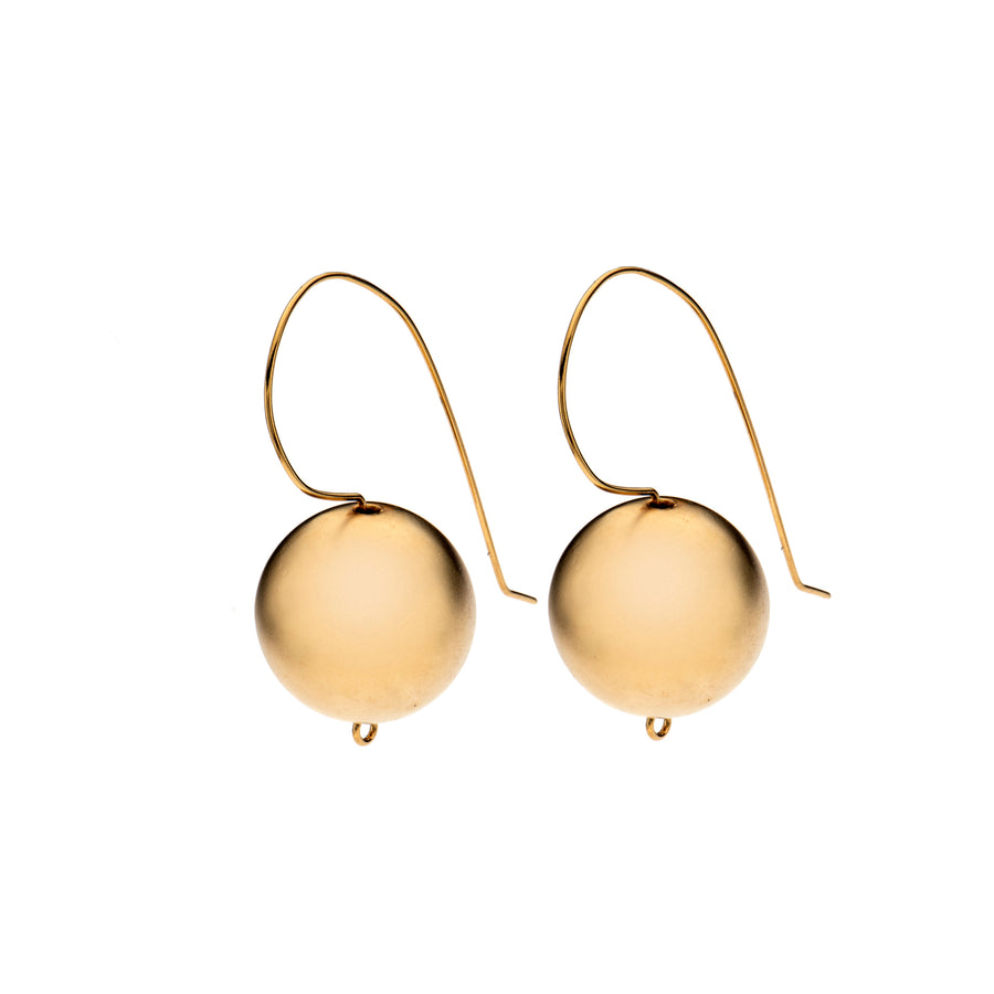 Diana 24K Gold ball-shaped earrings