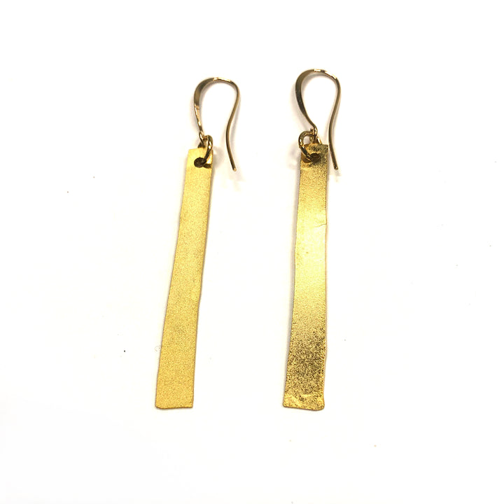 Jackie - Simple 24K gold lightweight strip dangle earring