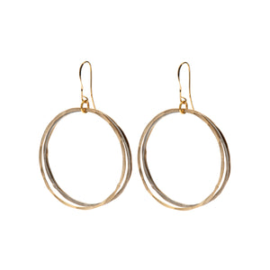 Lillian - Gold & silver double hoop earrings