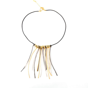 Emma - Modern wire twigs necklace