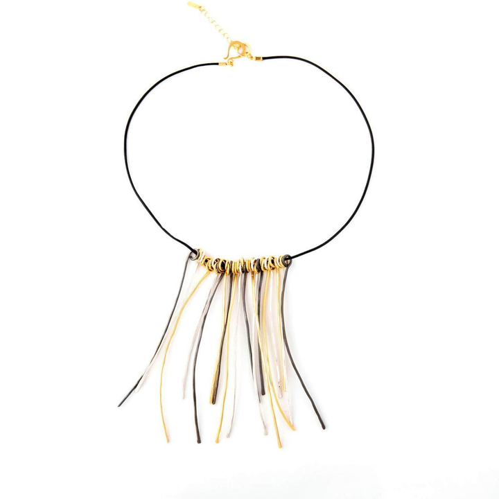 Emma wire twigs necklace