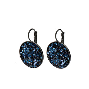 Grace - 24K gold champagne Swarovski crystal pave earrings
