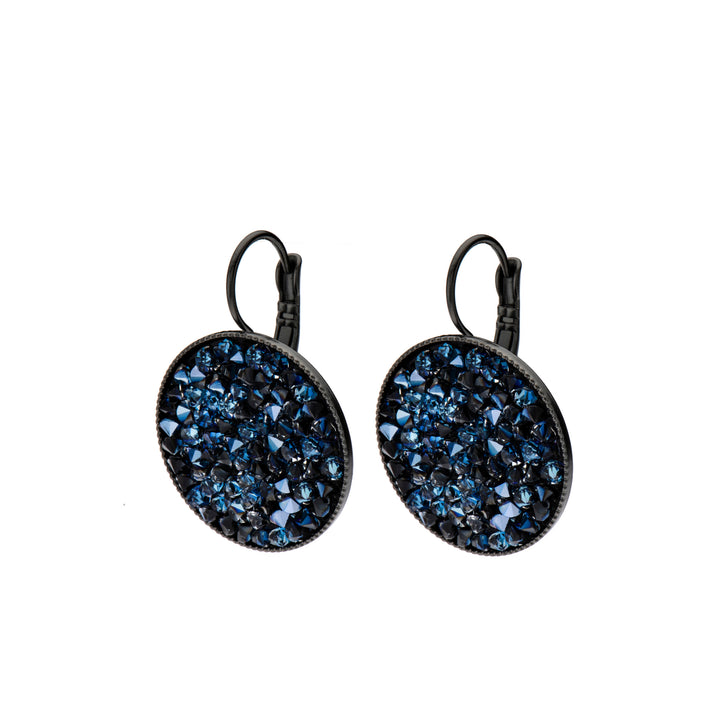 Grace Blue Swarovski crystal pave earrings