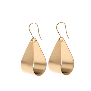 Mila - 24K gold large teardrop shaped earrings