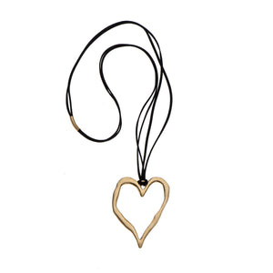 Patricia - Sterling silver heart statement necklace