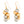 Isabella - Festive gold & silver cluster earrings