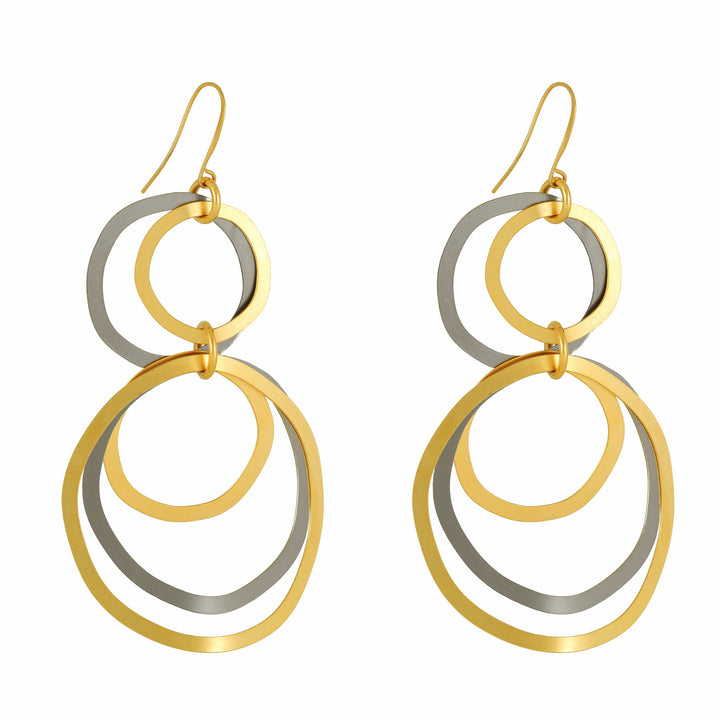Harper - Modern gold & silver hoop earrings