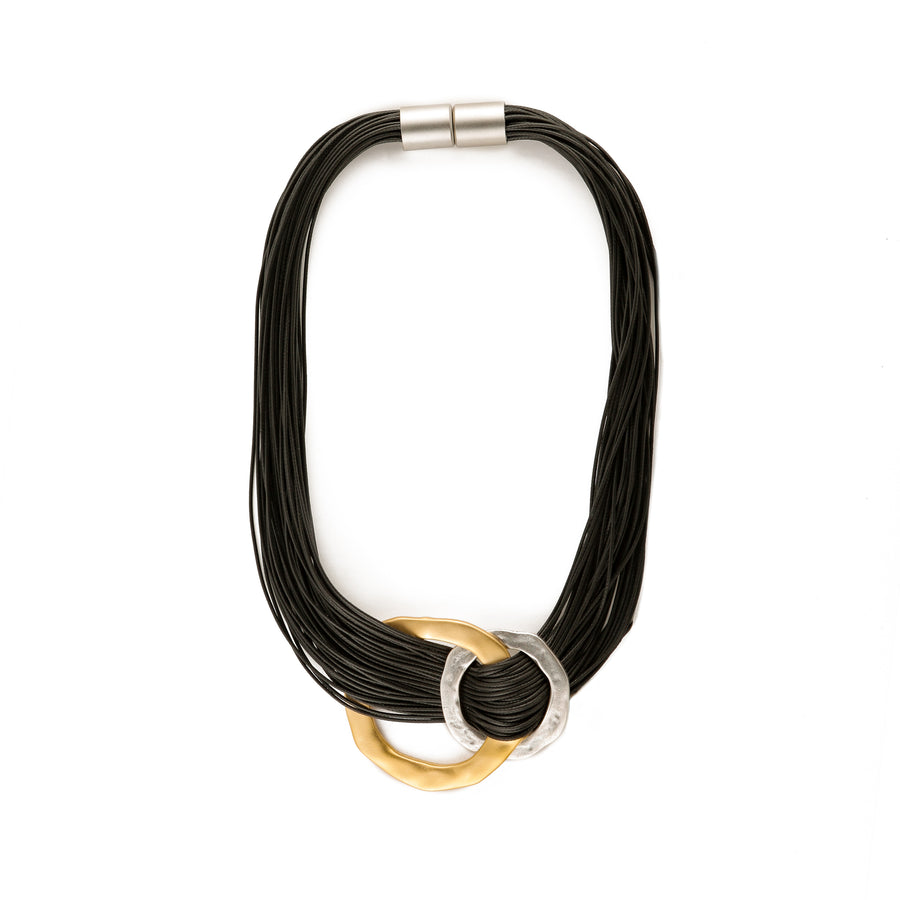 Victoria - Intertwined hoops collar necklace